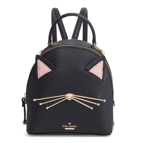 3f3430efbb Kate spade backpack Kate Spade pxru9427 cat s meow binx (black) cat leather  backpack (black) Cat s Meow Cat Binx Mini Backpack new work regular article  ...