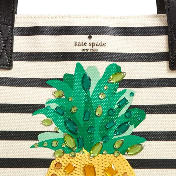 9b035186c ... Kate spade tote bag Kate Spade pxru8939 by the pool canvas pineapple  mega sam (multi