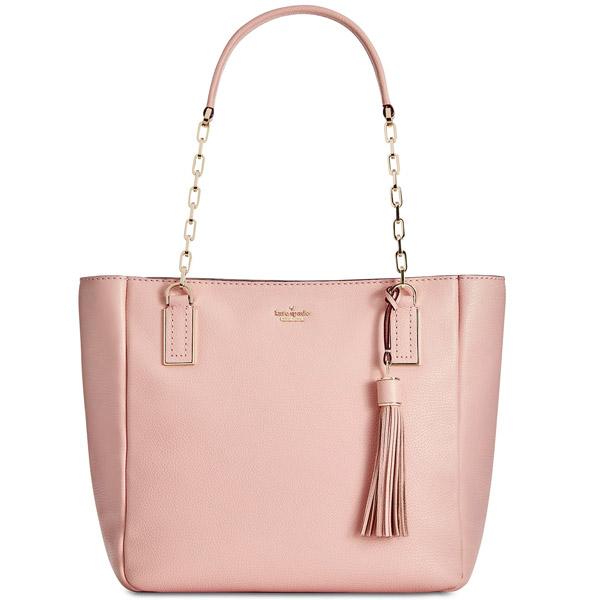 Kate Spade Tote Bag Pxru8644 Kingston Drive Vivian Warm Vellum Leather