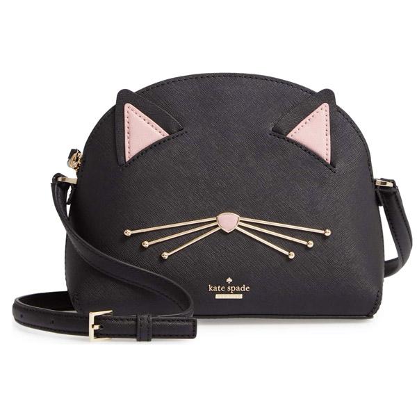 ケイトスペード ショルダーバッグ Kate Spade cat's meow large hilli leather bag (Black) キャット ラージ ヒリクロスボディ (ブラック) 新作 正規品 アメリカ買付 レディース バッグ ポシェット ネコ 猫 斜めがけ