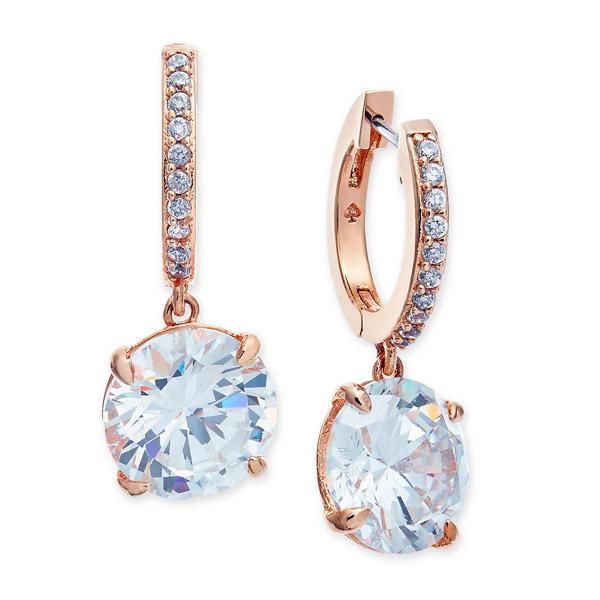 ケイトスペード ピアス Kate Spade Crystal and Pave Drop Earrings (Rose Gold) クリスタル & パヴェドロップ ピアス (ローズゴールド) 新作 正規品 アメリカ買付 レディース ジュエリー ギフト プレゼント 誕生日