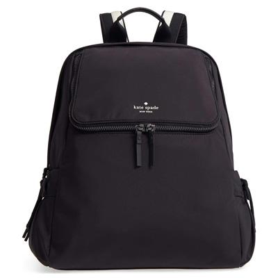 ケイトスペード バックパック Kate Spade pxru8857thats the spirit backpack (Black) ナイロン バックパック/リュック (ブラック) 新作 正規品 アメリカ買付 レディース バッグ リュックサック 無地 ジムバッグ ヨガバッグ