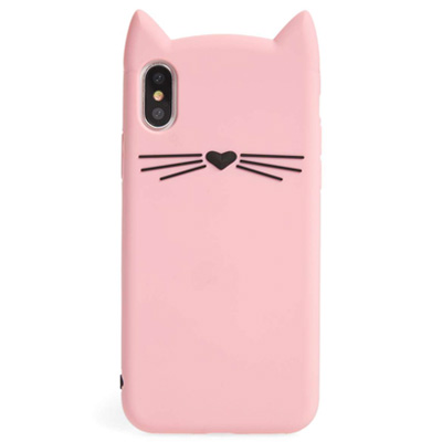 ケイトスペード iPhoneケース Kate Spade Silicone Cat iPhone X Case (Pink Multi) シリコン キャット iPhoneXケース (ピンクマルチ) ● 新作 正規品 アメリカ買付 iPhoneカバー スマホケース 小物 猫 ネコ