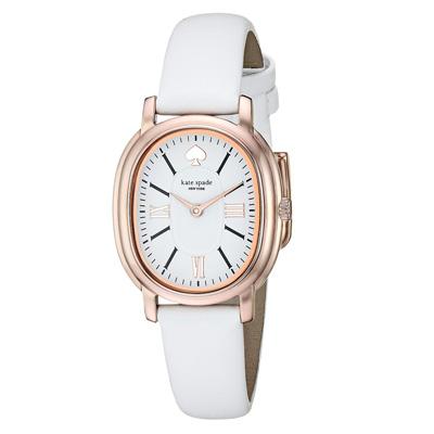 ケイトスペード 腕時計 Kate Spade ksw1433staten leather strap watch, 25mm x 33mm (White) レザーストラップ ウォッチ 時計 (ホワイト) ★ 新作 正規品 アメリカ買付 レディース ジュエリー アクセサリー ギフト プレゼント