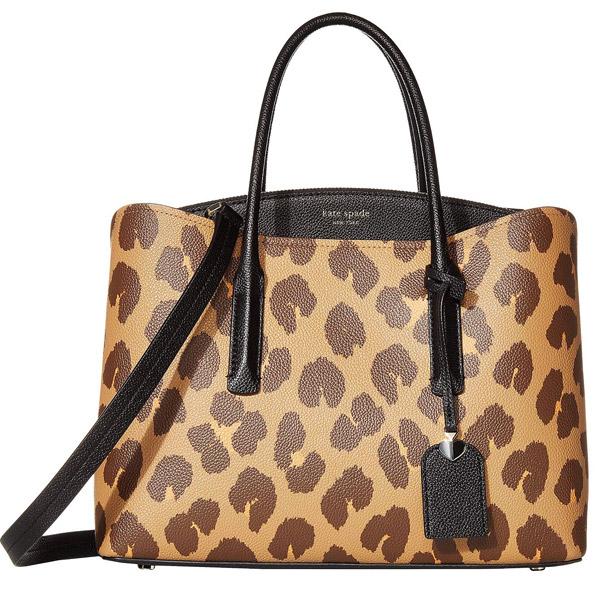 ケイトスペード 2WAYバッグ Kate Spade pxrua537margaux leopard large satchel (NATURAL MULTI) マルゴー レオパード ラージ サッチェル (ナチュラルマルチ) 新作 正規品 アメリカ買付 レディース バッグ ハンドバッグ ショルダーバッグ ヒョウ柄