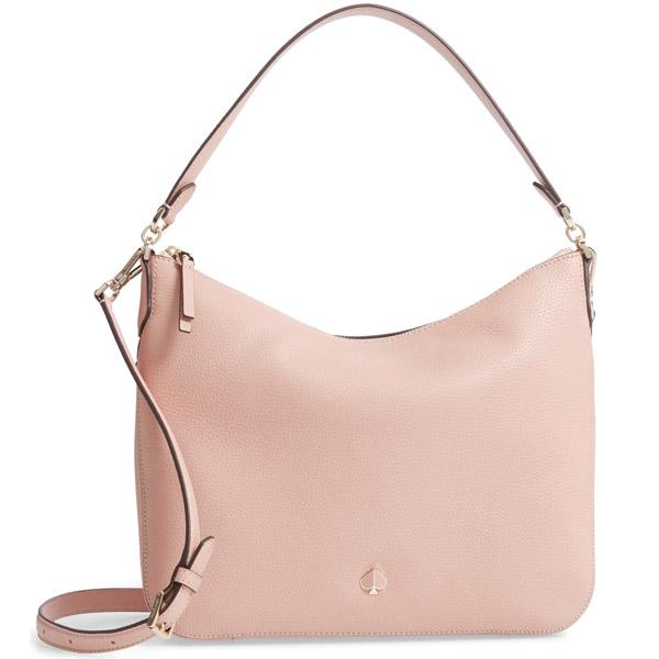 ケイトスペード ショルダーバッグ Kate Spade medium polly leather shoulder bag (Flapper Pink) ミディアム レザー ショルダーバッグ (フラッパーピンク) Medium Pebbled Leather Shoulder Bag 新作 正規品 アメリカ買付 レディース バッグ ハンドバッグ
