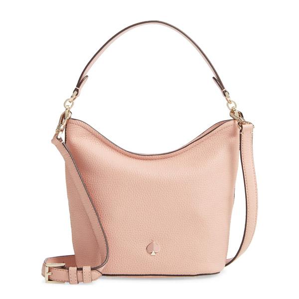 ケイトスペード ショルダーバッグ Kate Spade small polly leather hobo bag (Flapper Pink) スモール レザー ホーボーバッグ (フラッパーピンク) Polly Small Hobo Bag 新作 正規品 アメリカ買付 レディース バッグ ハンドバッグ