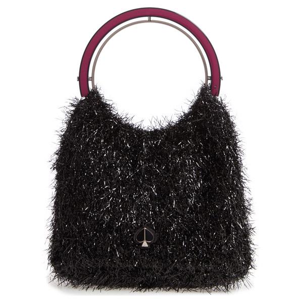 ケイトスペード ハンドバッグ Kate Spade betty tinsel top handle bag (Black) トップハンドル バッグ (ブラック) 新作 正規品 アメリカ買付 レディース バッグ