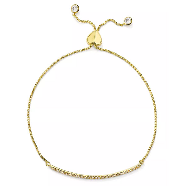 ケイトスペード ブレスレット Kate Spade Raise the Bar Pave Slider Bracelet (Gold) パヴェ バー スライダー ブレスレット (ゴールド) Pave Bar Slider Bracelet 新作 正規品 アメリカ買付 レディース ジュエリー アクセサリー ギフト プレゼント