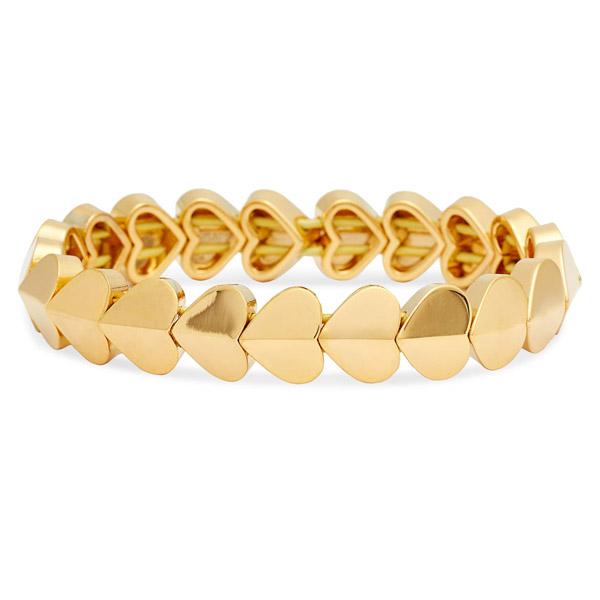 ケイトスペード ブレスレット Kate Spade Heart Stretch Bracelet (Gold) ハート ストレッチ ブレスレット (ゴールド) 新作 正規品 アメリカ買付 レディース ジュエリー アクセサリー ギフト プレゼント
