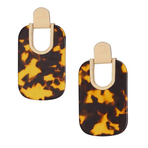 ケイトスペード ピアス Kate Spade Graphic Drop Earrings (Tortoise/Multi) ドロップ ピアス (トータスマルチ) statement earrings 新作 正規品 アメリカ買付 レディース ジュエリー アクセサリー ギフト プレゼント