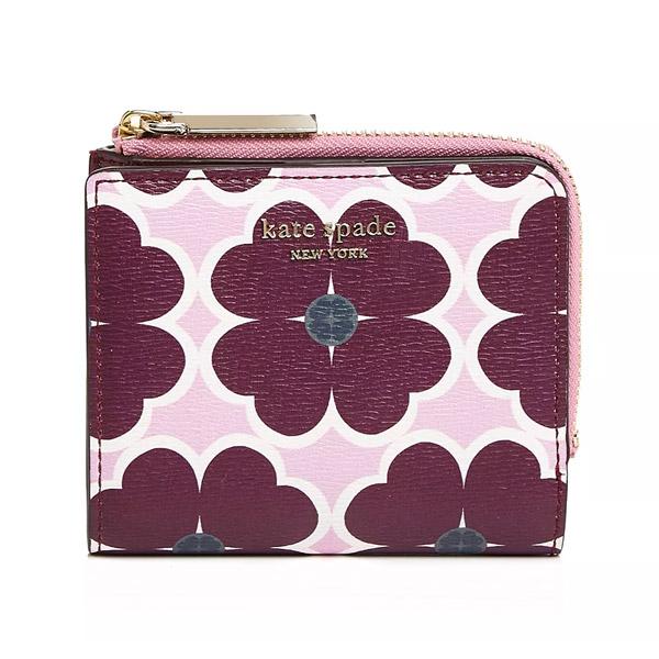ケイトスペード 二つ折り財布 Kate Spade Sylvia Clover Small Bifold Wallet (Orchid Multi) シルビア スモール ビルホールド 財布 (マルチ) 新作 正規品 アメリカ買付 レディース 財布 コンパクト ミニ ウォレット 花柄