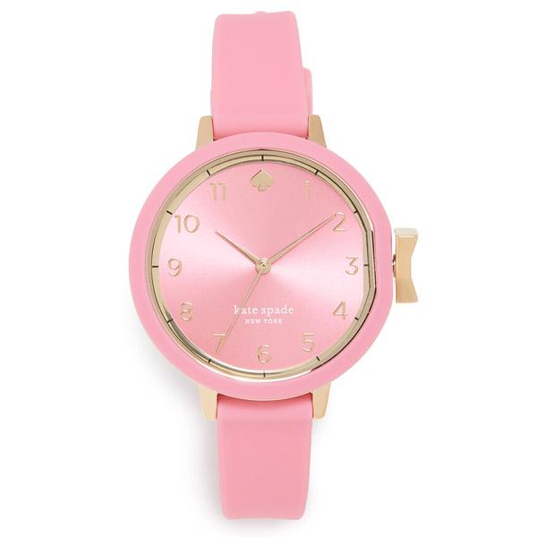 ケイトスペード 腕時計 Kate Spade KSW1518Park Row Pink Silicone Strap Watch 34mm (PINK) シリコンストラップ ウォッチ 時計 (ピンク) 新作 正規品 アメリカ買付 レディース アクセサリー ギフト プレゼント