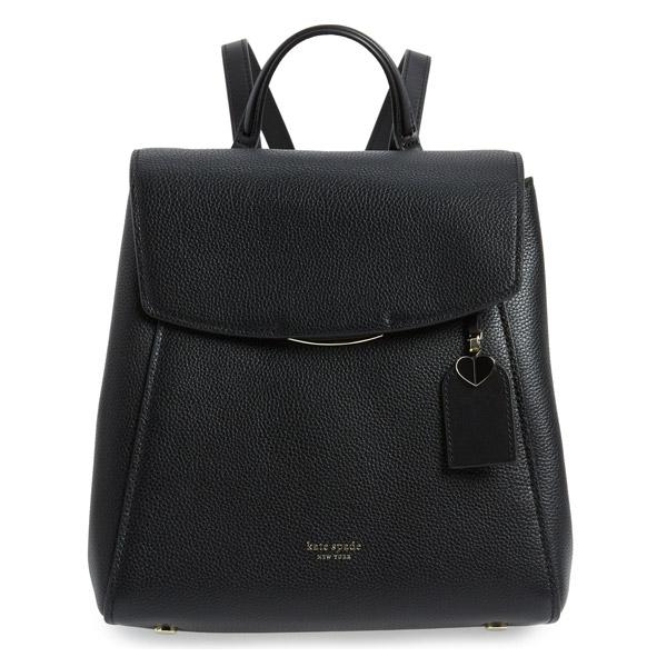 ケイトスペード バックパック Kate Spade pxrua197grace medium backpack (BLACK) レザー ミディアム バックパック (ブラック) medium grace leather backpack 新作 正規品 アメリカ買付 レディース バッグ リュック リュックサック