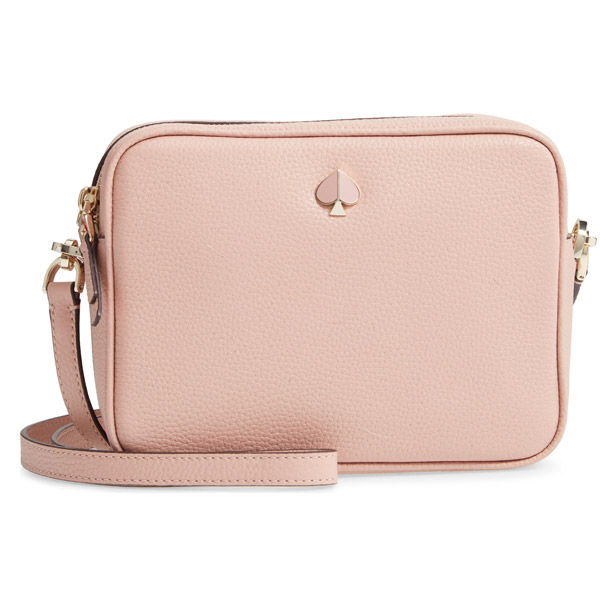 Kate Spade Shoulder Bag Pxrua203 Polly Medium Camera Fler Pink Leather New