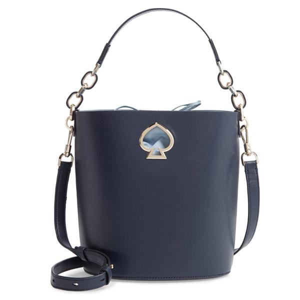 ケイトスペード ショルダーバッグ Kate Spade pxrua406suzy small bucket bag (BLAZER BLUE) スモール レザー バケットバッグ (ブレザーブルー) suzy small leather bucket bag 新作 正規品 アメリカ買付 レディース バッグ ハンドバッグ クロスボディバッグ