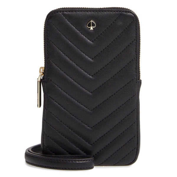 wholesale dealer 28644 cc51d Kate spade iPhone case / bag Kate Spade amelia quilted leather phone  crossbody bag (Black) eyephone case phone crossbody (black) Polly Pebble  Leather ...
