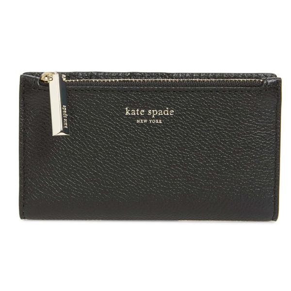 ケイトスペード 二つ折り財布 Kate Spade margaux slim bifold wallet (Black) スリム ビルホールド 財布 (ブラック) Margaux Bifold Wallet 新作 正規品 アメリカ買付 レディース コンパクト ミニ財布