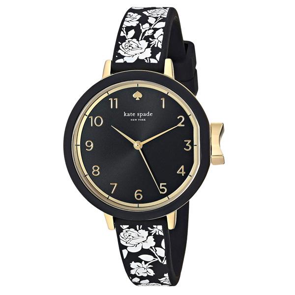 ケイトスペード 腕時計 Kate Spade ksw1476Park Row Watch, 34mm (Black/Multi) フローラル ストラップ ウォッチ 時計 (ブラック) 新作 正規品 アメリカ買付 レディース 時計 腕時計 ギフト プレゼント