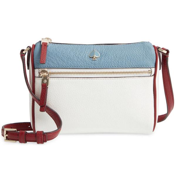 ケイトスペード ショルダーバッグ Kate Spade small polly leather crossbody bag (Optic White Multi) ポリー レザー クロスボディバッグ (ホワイトマルチ) 新作 正規品 アメリカ買付 レディース バッグ ポシェット ミニバッグ