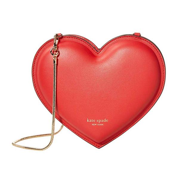 ケイトスペード ショルダーバッグ Kate Spade 3D Heart Leather Crossbody (Hot Chili) 3D ハート レザー クロスボディバッグ (ホットチリ) 3-D Heart Heart Crossbody 新作 正規品 アメリカ買付 レディース バッグ クラッチ ポシェット
