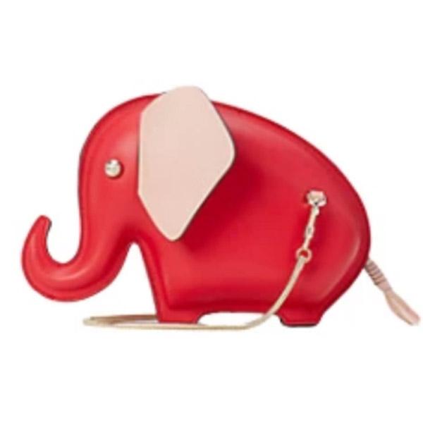 ケイトスペード ショルダーバッグ PXRUB056 Kate Spade tiny elephant crossbody (Red) タイニー エレファント クロスボディ (レッド) ★ 新作 正規品 アメリカ買付 レディース クラッチバッグ ポシェット ゾウ