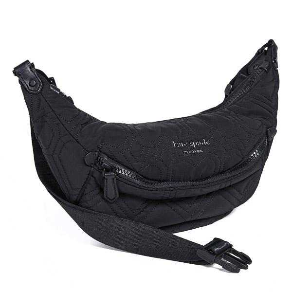 ケイトスペード ショルダーバッグ Kate Spade pxrua207 jayne belt bag (BLACK) ナイロン ベルトバッグ (ブラック) 新作 正規品 アメリカ買付 レディース バッグ ボディバッグ ウエストバッグ ファニーパック ウエストポーチ