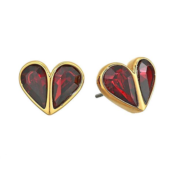 ケイトスペード ピアス Kate Spade Crystal Heart Stud Earrings (Ruby/Gold) クリスタル ハート スタッド ピアス (ルビー/ゴールド) Rock Solid Stud Heart Earrings 新作 正規品 アメリカ買付 レディース ジュエリー アクセサリー ギフト プレゼント