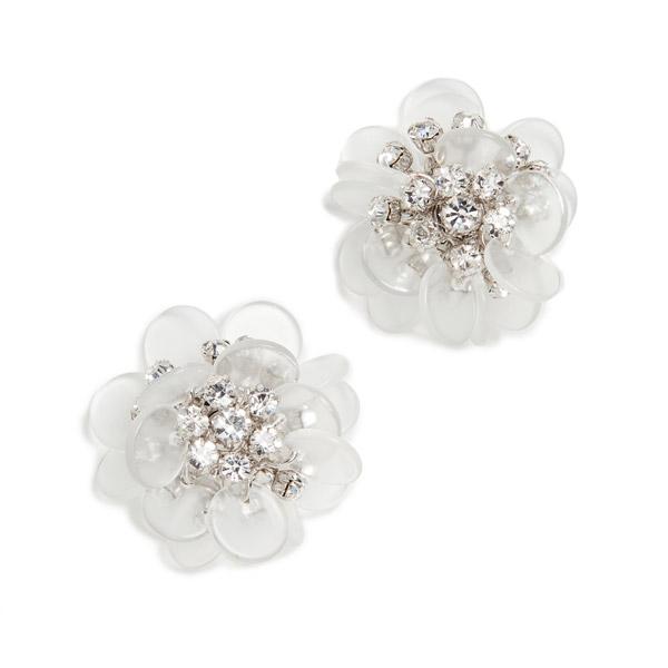 ケイトスペード ピアス Kate Spade Silver-Tone Pave Flower Stud Earrings (Clear Multi) パヴェ フラワー スタッド ピアス (クリアマルチ) Blooming Bouquet Stud Earrings 新作 正規品 アメリカ買付 レディース ジュエリー アクセサリー