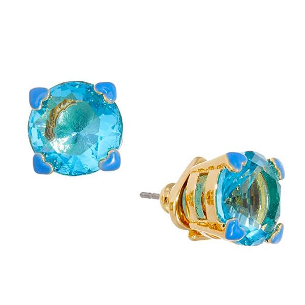 ケイトスペード Kate Spade 新作 2020A/W新作送料無料 ピアスアメリカ LA在住スタッフ買付発送 ピアス SpadeHeart Stud Earrings ライトサファイア 大規模セール Blue Light 4-Heart スタッド Prong ハート Crystal Gold-Tone Sapphire