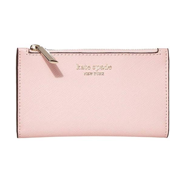 ケイトスペード 二つ折り財布 Kate Spade Spencer Slim Bifold Leather Wallet (Tutu Pink) スモール スリム レザー ビルホールド ウォレット 財布 (ピンク) small spencer saffiano leather bifold wallet 新作 正規品 アメリカ買付 レディース コンパクト