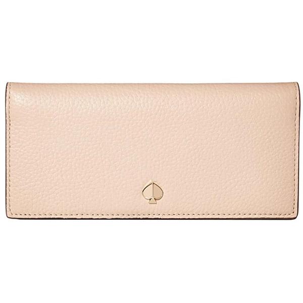 ケイトスペード 長財布 Kate Spade polly leather bifold wallet (Blush) スペード レザー ビルホールド ウォレット 財布 (ブラッシュ) Polly Bifold Continental Wallet 新作 正規品 アメリカ買付 レディース 財布