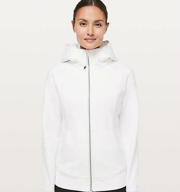 a72e91ee6d Lulu lemon Lady's jacket Scuba Hoodie Light Cotton Fleece white Lululemon  Lulu lemon new work genuine ...