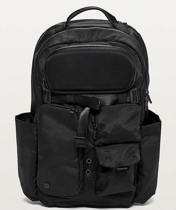 e83fdd345cd9 Witusa lulu lemon men sports bag cruiser backpack black jpg 600x717 Lululemon  laptop bag