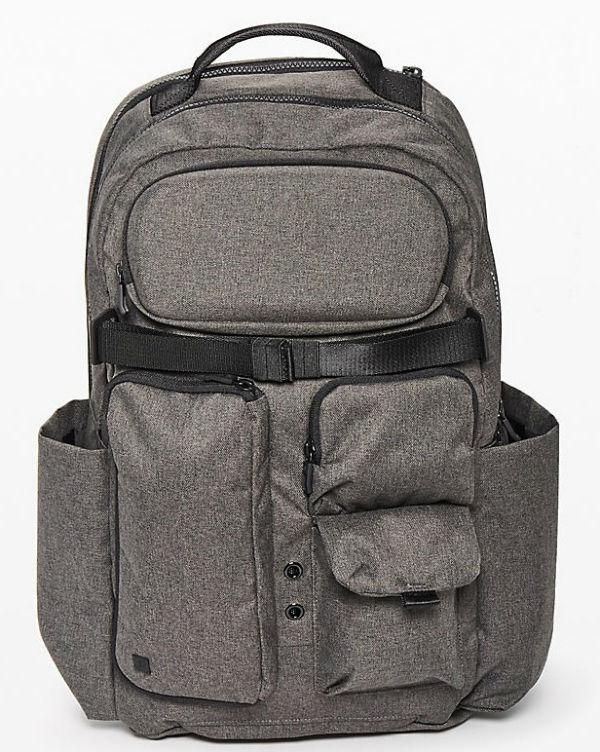 ルルレモン メンズ スポーツ バッグCruiser Backpack(22L) グレイ系 Heathered Core Dark greyLululemon ルルレモン新作 本物 正規品 アメリカ買付 USA直輸入