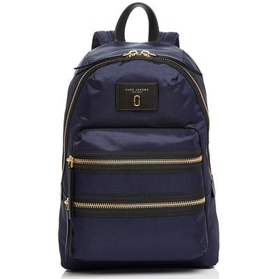 マークジェイコブス バックパック MARC JACOBS Biker Medium Nylon Backpack (Midnight Blue/Gold) バイカー ミディアム ナイロン バックパック/リュック (ネイビー) 新作 正規品 アメリカ買付 レディース バッグ ユニセックス メンズ リュックサック 通勤 通学