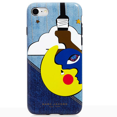 マークジェイコブス iPhoneケース MARC JACOBS Julie Verhoeven Denim Print iPhone 7 Case (Black Multi) iPhone7ケース (マルチ) ★ 新作 正規品 アメリカ買付 レディース スマートフォン iPhoneカバー ケース