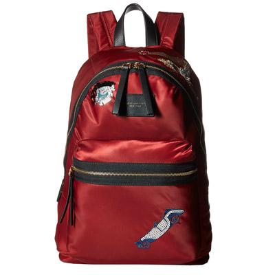 マークジェイコブス バックパック/リュック MARC JACOBS M0010255Vintage Collage Nylon Biker Backpack(DARK CHERRY) コラージュ ナイロン バイカー バックパック(ダークチェリー) ★ 正規品 リュックサック