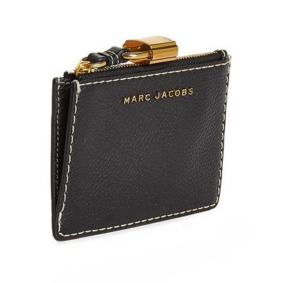 マークジェイコブス カードケース MARC JACOBS The Grind Top Zip Multi WalletBlackトップジップ マルチ 財布ブラック新作 正規品 アメリカ買付 レディース ウォレット コンパクト コインケース キーパウチ パドロック 南京錠HIED29W