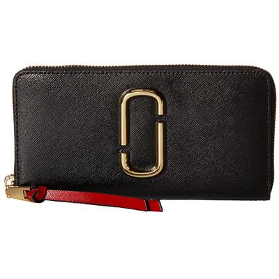 マークジェイコブス 長財布 M0013352 MARC JACOBS Snapshot Standard Continental Wallet (BLACK/CHIANTI) スナップショット レザー ウォレット 財布 (ブラックマルチ) 正規品 アメリカ買付 レディース 財布 本革