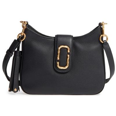 マークジェイコブス ショルダーバッグ MARC JACOBS Interlock Small Leather Hobo (Black) スモール レザー ショルダーバッグ (ブラック) ★ 新作 正規品 アメリカ買付 バッグ クロスボディ メッセンジャーバッグ 斜めがけ