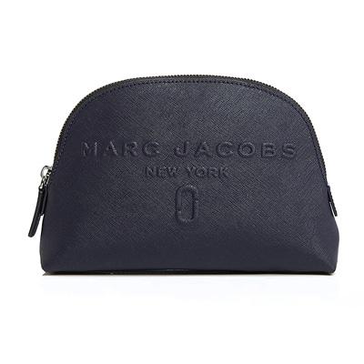 マークジェイコブス 化粧ポーチ MARC JACOBS Dome Leather Cosmetic Bag (Midnight Blue) ドーム レザー コスメポーチ (ミッドナイトブルー) 新作 正規品 アメリカ買付 レディース バッグ 化粧ポーチ ポーチ コスメポーチ