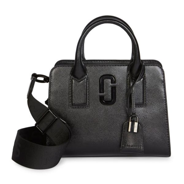 マークジェイコブス 2WAYバッグ MARC JACOBS M0014866Little Big Shot DTM Bag (BLACK) リトル ビックショット サッチェル (ブラック) Little Big Shot Coated Leather Top Handle Bag 新作 正規品 レディース バッグ ショルダーバッグ ハンドバッグ