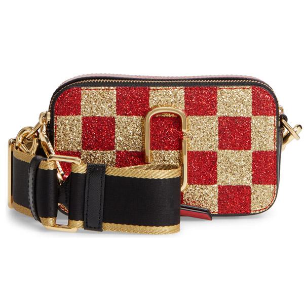 マークジェイコブス ショルダーバッグ MARC JACOBS M0014548Checkerboard Snapshot Small Camera Bag (GOLD MULTI) グリッター スナップショット カメラバッグ (ゴールドマルチ) Snapshot Glitter Checkerboard Crossbody 新作 正規品 レディース バッグ クロスボディ