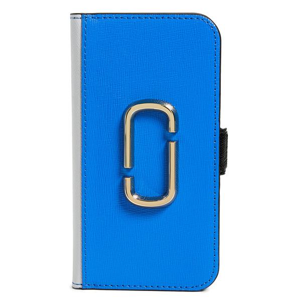 マークジェイコブス iPhoneケース M0014385 MARC JACOBS Snapshot Smartphone Cover 8 (DAZZLING BLUE MULTI) スナップショット レザー iPhone8ケース (ブルー) Snapshot iPhone 8 Case ● 新作 正規品 アメリカ買付 iPhoneカバー 手帳型 ブックケース iPhone7 iPhone8