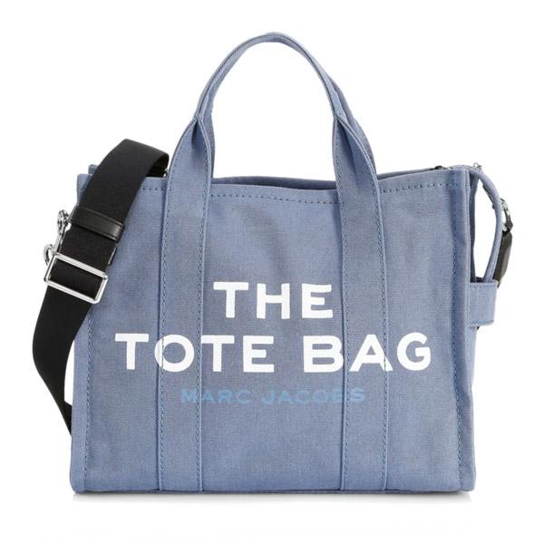 マークジェイコブス 2WAYバッグ M0016161 MARC JACOBSThe Tote Bag Small Traveler Tote (Blue Shadow) スモール トラベラー トート (ブルー) THE SMALL TRAVELER TOTE BAG 新作 正規品 アメリカ買付 レディース バッグ ショルダーバッグ