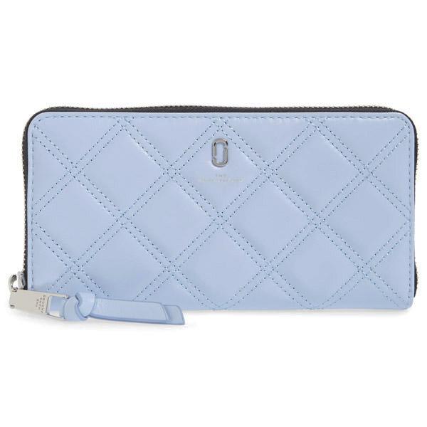 マークジェイコブス 長財布 M0015864 MARC JACOBSThe Quilted Softshot Standard Continental Wallet (Blue Mint) キルティング ソフトショット ウォレット 財布 (ブルー) Standard Quilted Leather Continental Wallet ★ 新作 レディース レザー