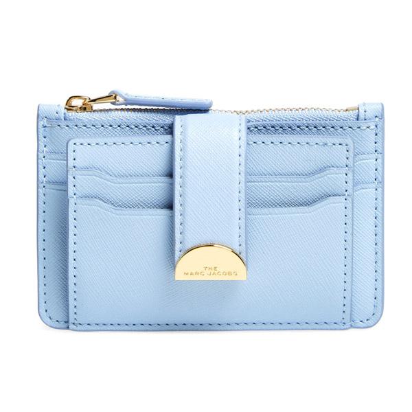 マークジェイコブス カードケース MARC JACOBS M0016234 THE HALF MOON MULTI CARD CASE (Blue Mist) ハーフムーン マルチ カードケース (ブルーミスト) Leather Card Case 新作 正規品 アメリカ買付 レディース 財布 コインケース 小銭入れ