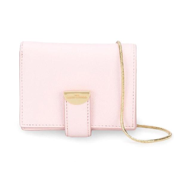 マークジェイコブス カードケース MARC JACOBS M0016236THE HALF MOON SMALL CARD CASE WITH CHAIN (Tutu Pink) ハーフムーン スモール カードケース ウィズ チェーン (ピンク) Half Moon Card Case with Chain