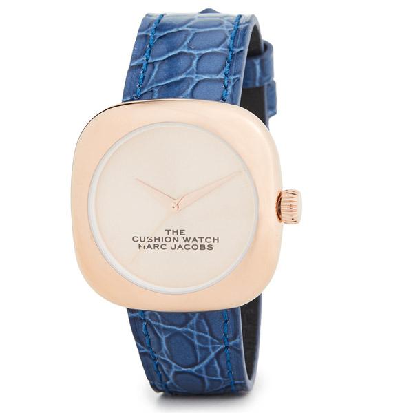マークジェイコブス 腕時計 M8000733 MARC JACOBS The Cushion Watch 36mm (BLUE/ROSE GOLD) ザ クッション ウォッチ 36mm 時計 (ブルー/ローズゴールド) 新作 正規品 アメリカ買付 レディース ギフト プレゼント アクセサリー 小物